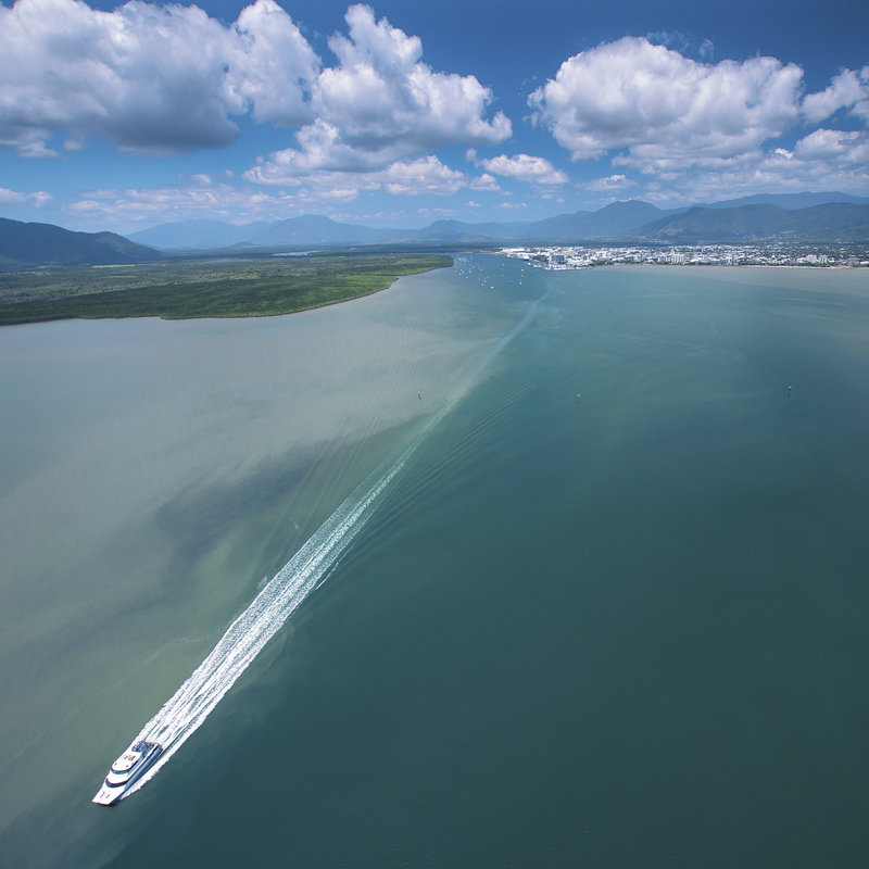 DEPART CAIRNS, MV TRINITY BAY.